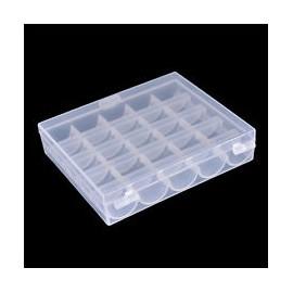 Boîte pour bobines transparente