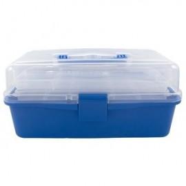Boîte de rangement bleu