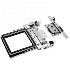 Cadre de serrage double face M (100 x 100 mm) avec support D
