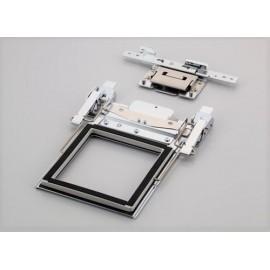 Doppelseitiger Klemmrahmen M (100 x 100 mm) mit Halterung D
